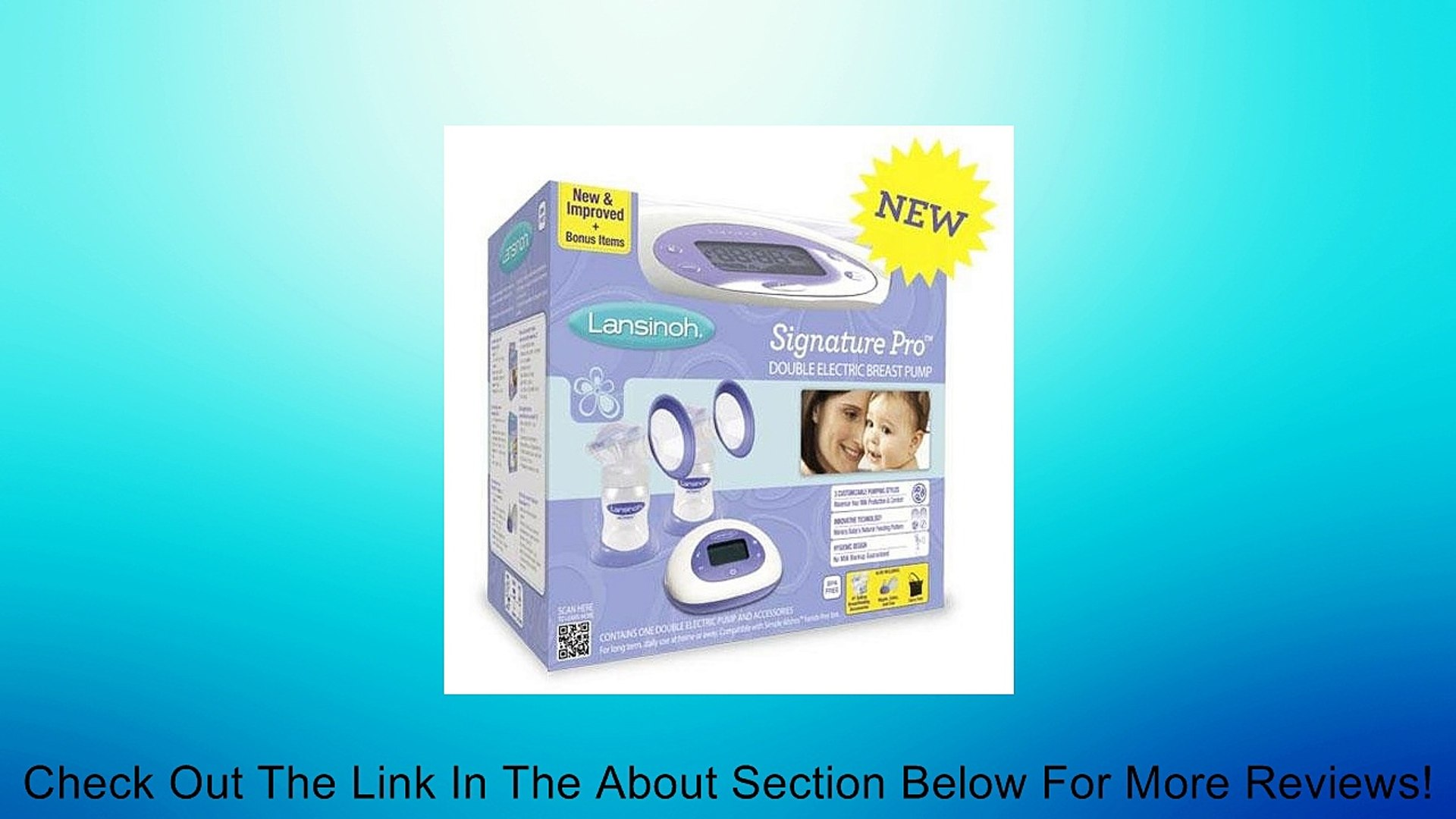 Lansinoh Affinity Pro Double Electric Breast Pump Review Video