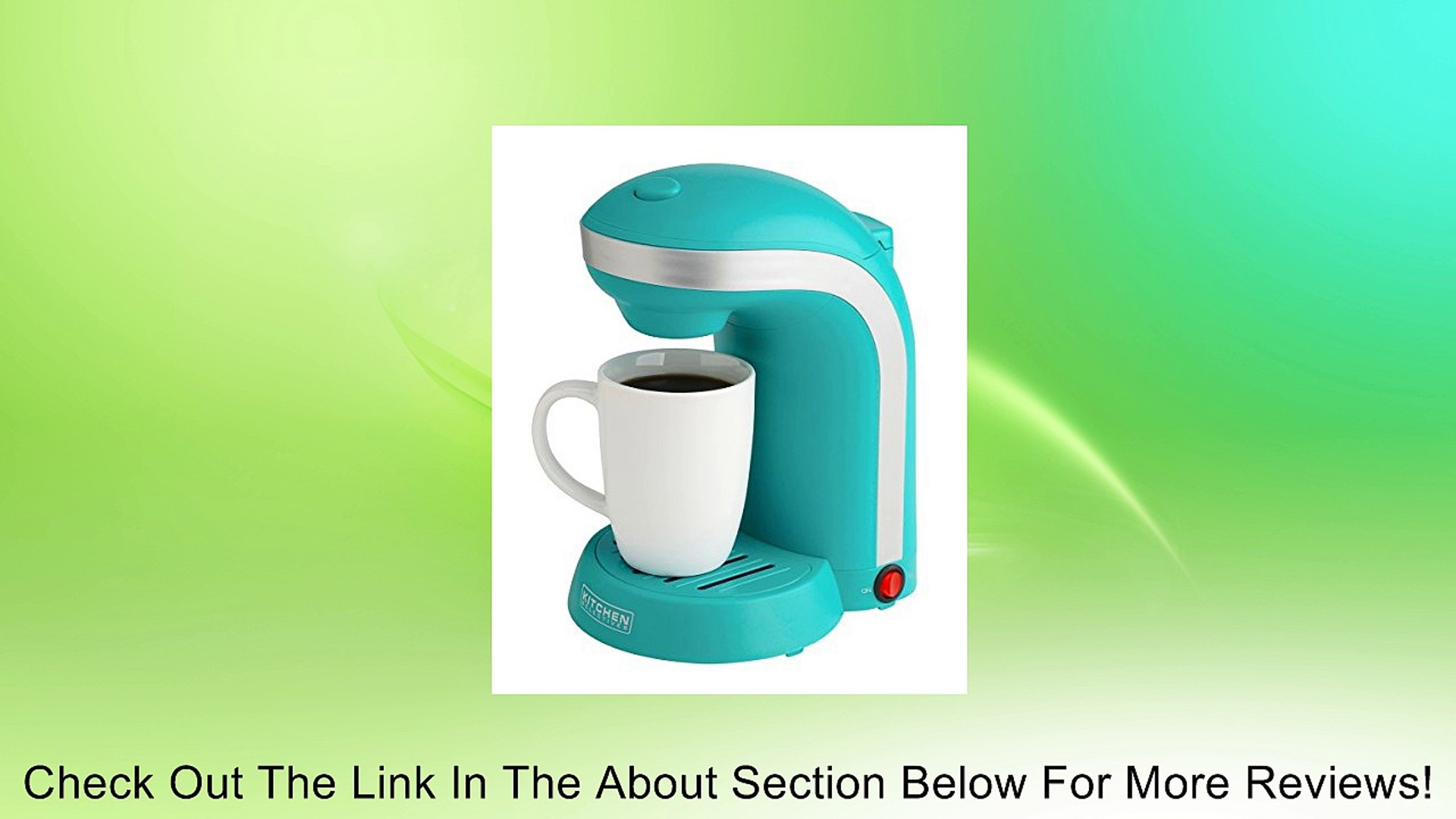 Kitchen Selectives Colors Single Serve Coffee Maker Teal Review 影片 Dailymotion