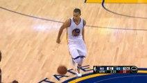 Stephen Curry régale avec enchaînement dribble dans le dos et passe dans le dos