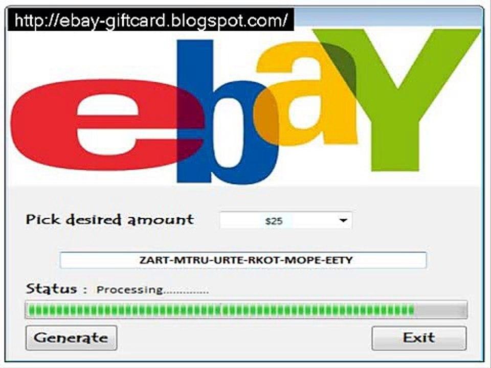 Free Ebay Gift Card Generator New Update 2014 Free Download 100 Working Video Dailymotion