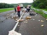Accident de voiture : 230 kg de cannabis sur la route