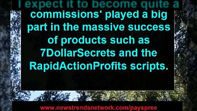 payspree instant commissions