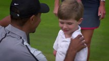 So cute disabled golfer kid meets his favorite pro golfer : Tiger Woods!