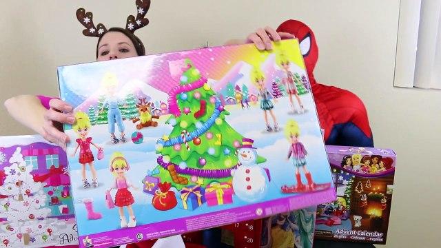 Surprise Toys ADVENT CALENDAR DisneyCarToys 24 Days of Christmas Barbie Lego Shopkins Polly Pocket 1