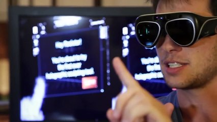 Space glasses with augmented reality technology