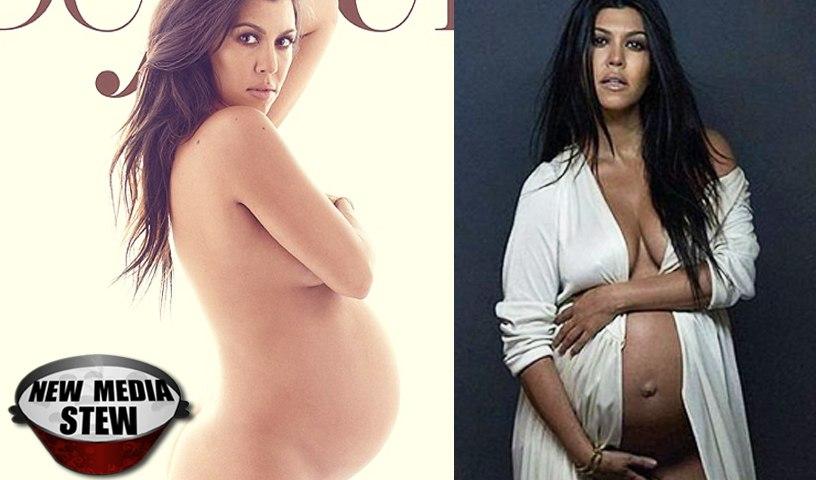 KOURTNEY KARDASHIAN NUDE in Pregnant Photoshoot, Instagram & Twitter React