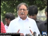 Dunya News - Govt serious regarding negotiations with PTI: Pervez Rasheed