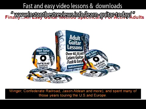 learn how to play guitar lesson 1   Adult Guitar Lessons Fast and easy video lessons