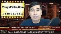 San Antonio Spurs vs. Minnesota Timberwolves Free Pick Prediction NBA Pro Basketball Odds Preview 12-6-2014