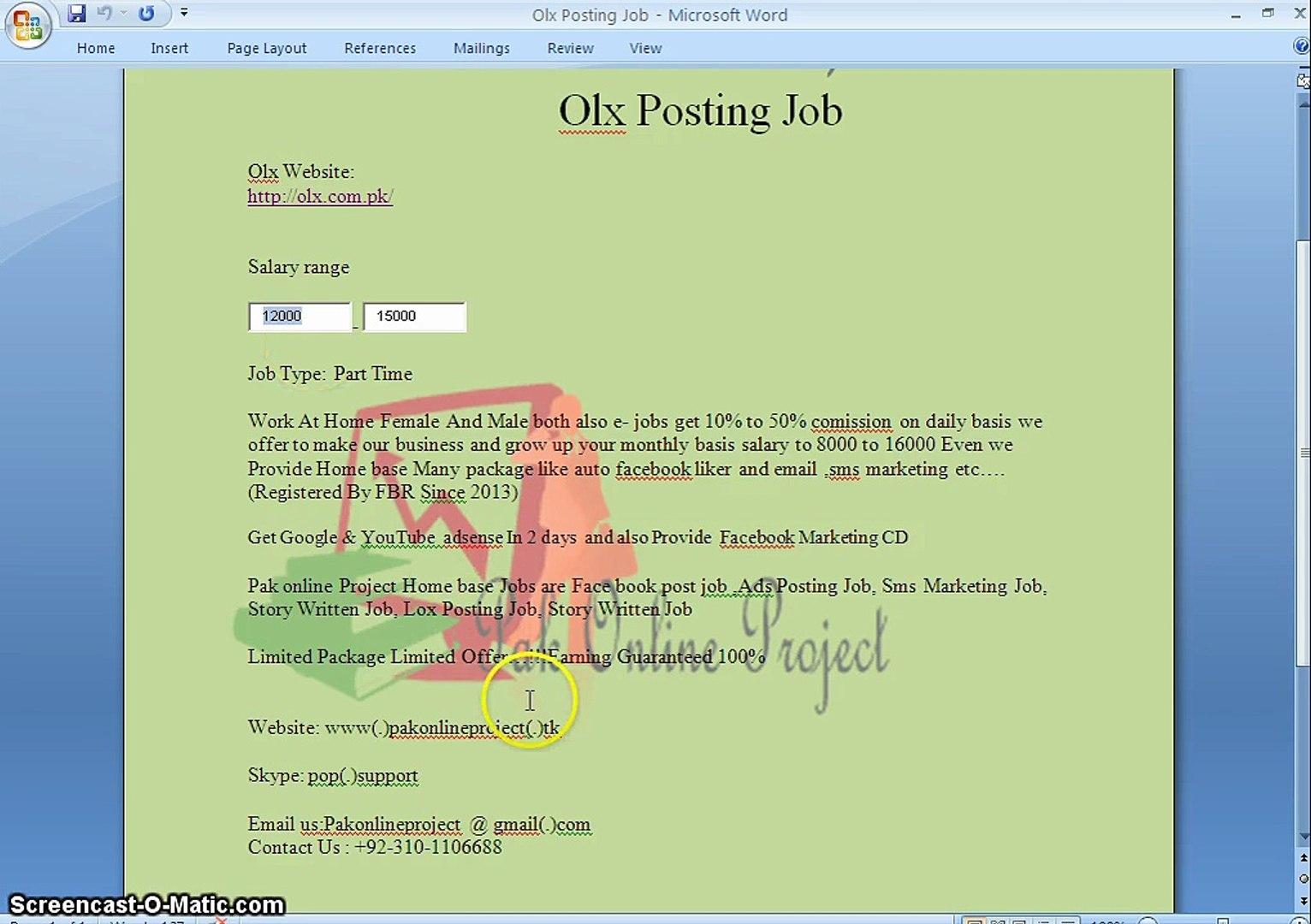 Olx Karachi Jobs In School