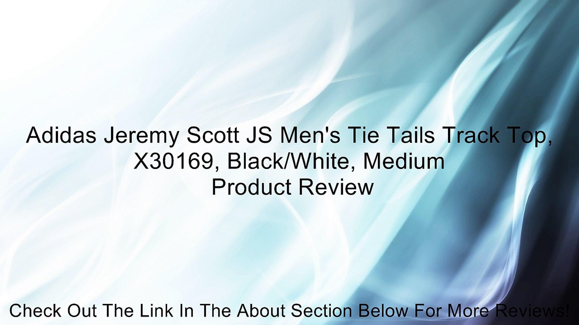 Adidas Jeremy Scott JS Men's Tie Tails Track Top, X30169, Black/White, Medium Review