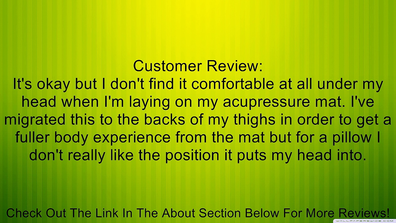 Dg Sports Acupuncture Pillow Acupressure Pillow Stress Relief – Green & Black Review