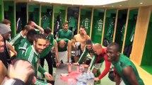 La joie des Verts après la victoire face à Bastia