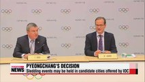 IOC tells PyeongChang it can hold some 2018 Olympic events in other cities if it wants