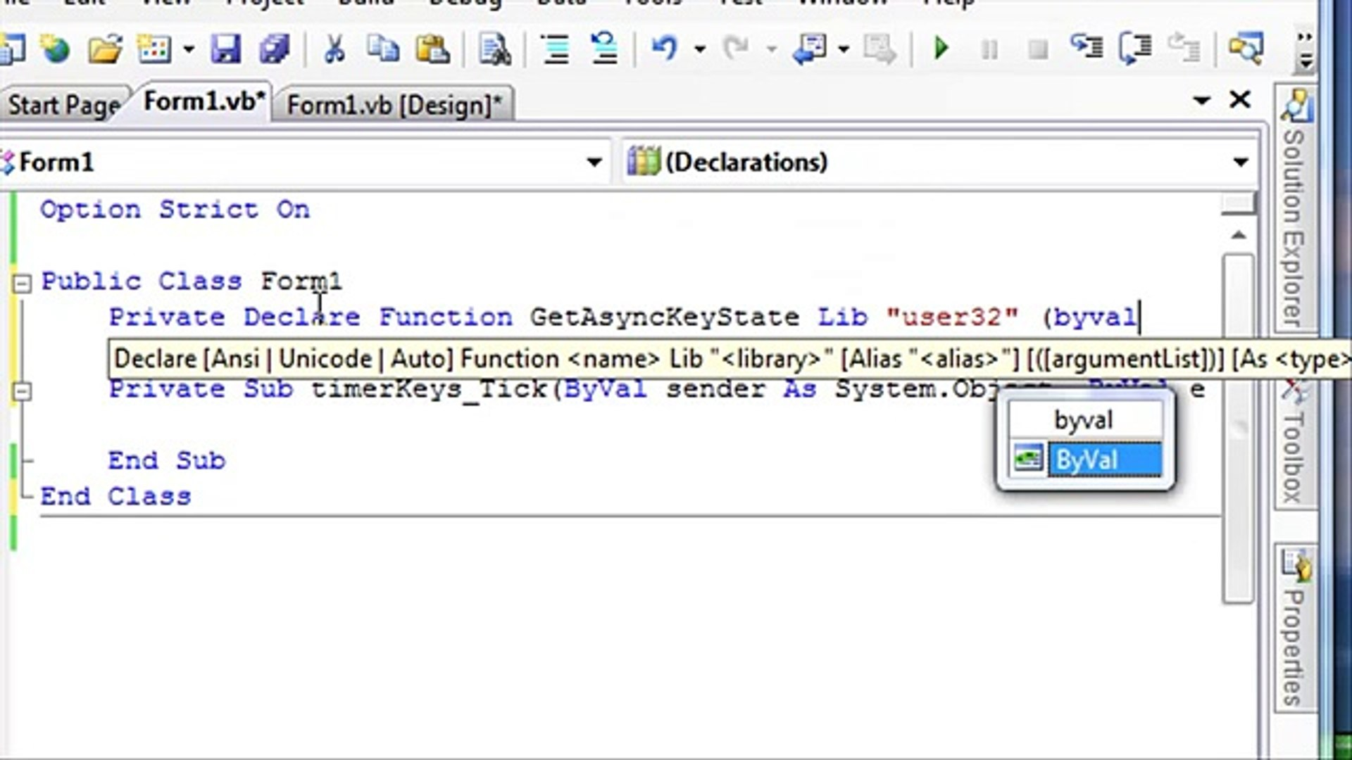 How to write a keylogger in vb