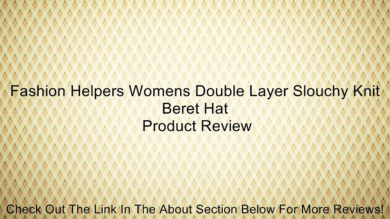 Fashion Helpers Womens Double Layer Slouchy Knit Beret Hat Review