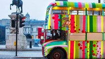 Knitted Bus Hits Streets Of London For 7up Campaign