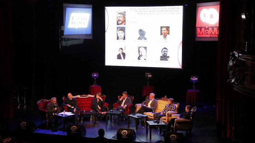 Digital sovereignty and cultural exception: Technology and music - Friends or foes? @ MaMA 2014, 17 Oct, Le Trianon, Paris