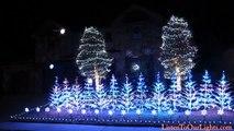 """Maison avec les lumières de Noël sur """"Libérée, délivrée"""" de la Reine des Neiges"""