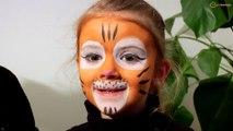 Tutoriel maquillage : maquiller son enfant en tigre