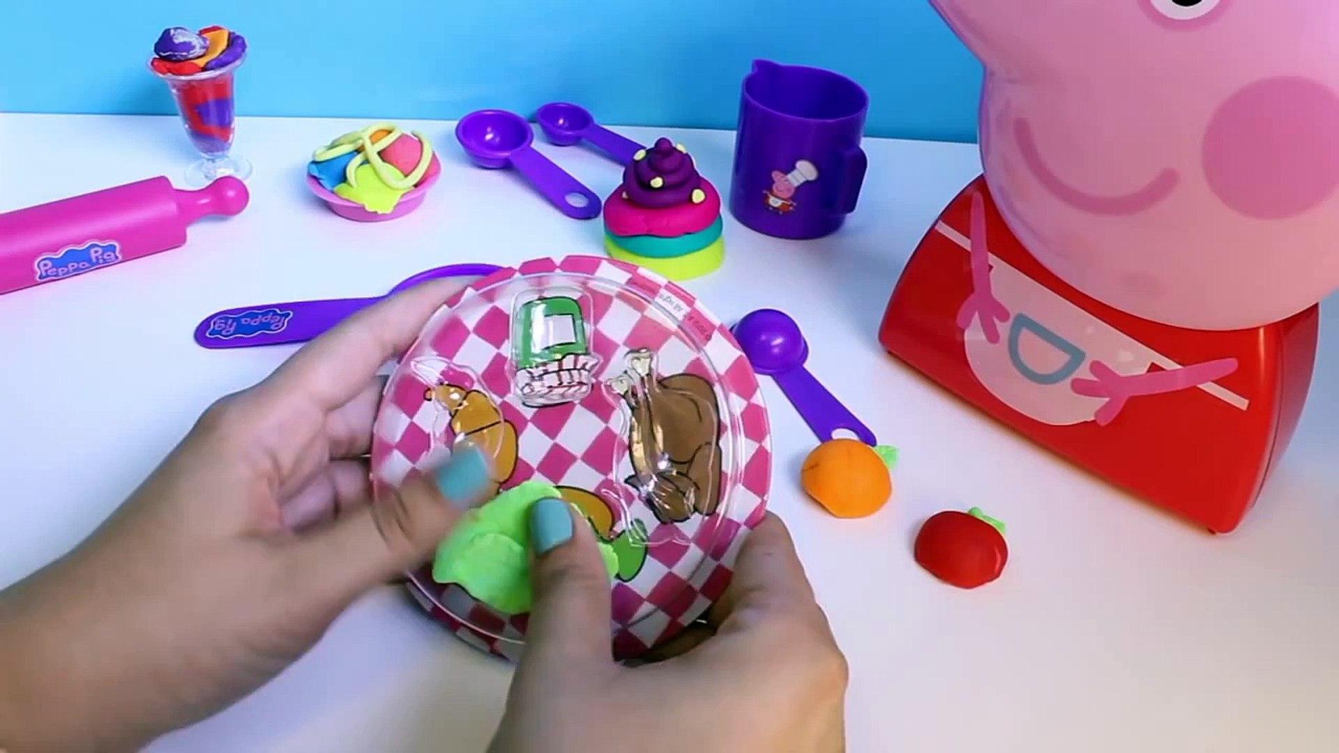 Peppa Pig Cooking Play Set Play Doh Food Ice Cream Playdough Chef Peppa Pig Cooking Set Carry Case