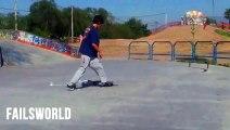 [+18 ~ Sexy Funny Girl]Skate Butt trick failsworld