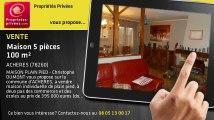 A vendre - maison - ACHERES (78260) - 5 pièces - 100m²