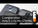 Comparativo Moto G x S4 Mini x G2 Mini - Vídeo Comparativo Brasil