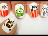 Om Nom nail art  - Easy nail designs for beginners to do at home - Cute Nail designs DIY nail designs tutorial