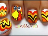 Turkey nails - thanksgiving nail art - Easy nail designs for beginners to do at home - Cute Nail designs DIY nail designs tutorial