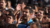 Displaced Gazans protest against unity government