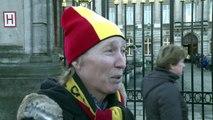 Les Belges rendent hommage à la reine Fabiola au Palais royal