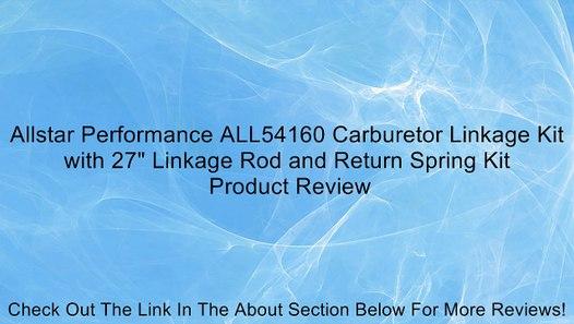 Allstar Performance ALL54160 Carburetor Linkage Kit with 27 Linkage Rod and Return Spring Kit