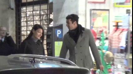 Shopping pre-natalizio per Gigi Buffon e Ilaria D'Amico