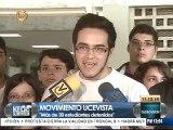 Estudiantes de la UCV exigen la liberación de más de 30 estudiantes detenidos