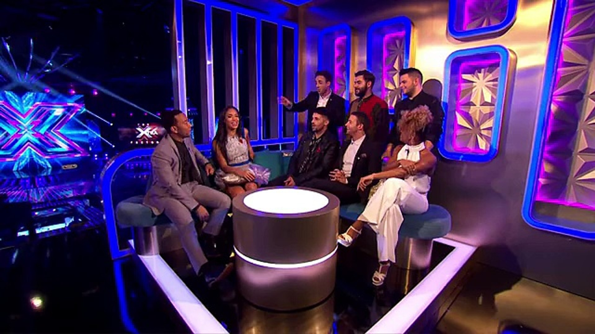 Sarah Jane and the contestants have a chat with John Legend - The Xtra Factor UK -Official Channel