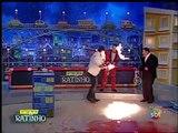 Crazy Fire-Eater FAIL during TV show... Tv presenter's face on fire!