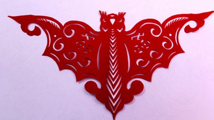 Découpage traditionnel chinois : Papillon Sphinx 1-2