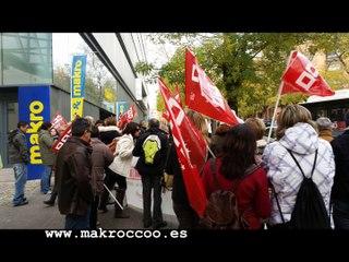 CCOO CONCENTRACIÓN OFICINAS CENTRALES MAKRO Metro Group PASEO IMPERIAL MADRID Metro Group