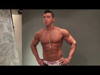 POSING PRACTICE WITH BUFF MUSCLE MODEL JAMES ALEXANDER-ELLIS