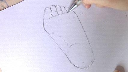 Dessiner un pied de dessous