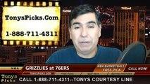 Philadelphia 76ers vs. Memphis Grizzlies Free Pick Prediction NBA Pro Basketball Odds Preview 12-13-2014