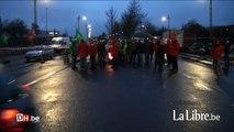 Grève nationale: barrages filtrants à Anderlecht