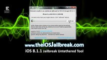 iOS 8.1.2 Official UNTETHERED Evasion Jailbreak - iPhone, iPad & iPod Touch