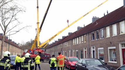 Netherlands: Marriage proposal ruined as crane smashed through roof