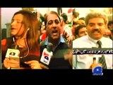 PTI attacks Geo team again, in Lahore-Geo Reports-15 Dec 2014