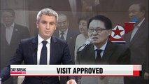 S. Korea approves opposition lawmaker's visit to N. Korea to deliver wreath