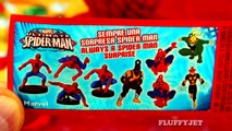 Spiderman Surprise Eggs Marvel Comics Ultimate Spider Man Cartoon Toys Iron Fist Power Man FluffyJet