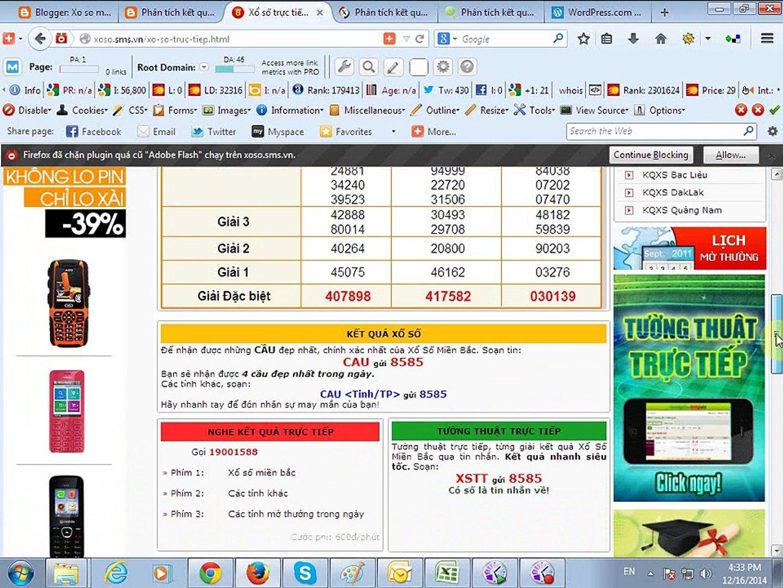 xsmn-Kết quả xổ số miền nam 16-12-2014