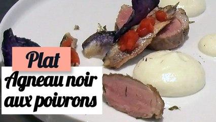 Agneau noir, poivrons grillés aux anchois - Recette plat